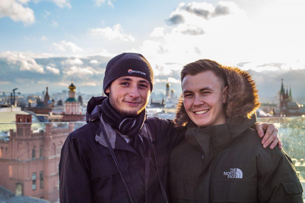 Adam Pickford and Will Stone in Russia