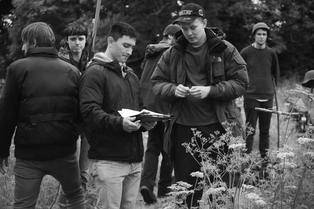 Director William Stone on set
