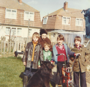 Children on a council estate in the 80's