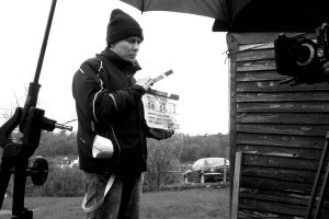 Director Will Stone on set